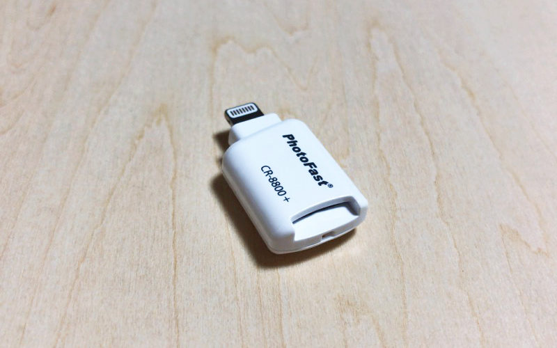【ウラチェックレビュー】PHOTO FAST カードリーダー PhotoFast Cardreader CR-8800 iPhoneで外部データを読み書きできるmicroSDリーダーの紹介