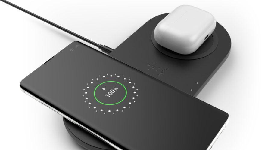 【新商品】2台同時10Wワイヤレス充電可能のデュアル充電パッドを、ベルキンが発売