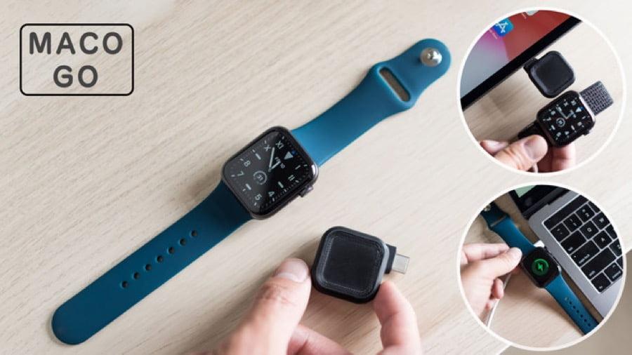 【新商品】超コンパクトでケーブルレス。携帯性バツグンのApple Watch用充電器「MACO GO」が発売